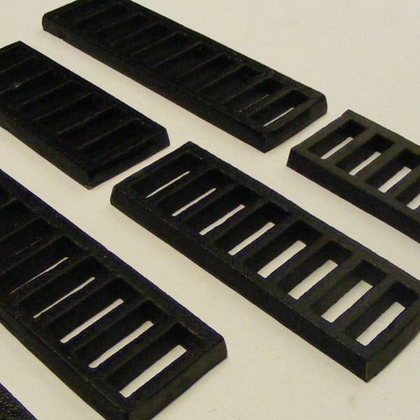 75mm high slotted grilles l