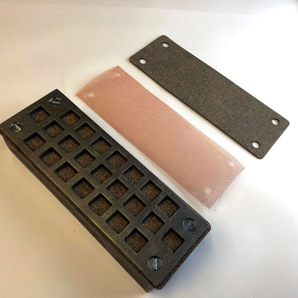 FLY3 Cast iron Flyscreen Air Brick 9x3 showing emergency floodscreen