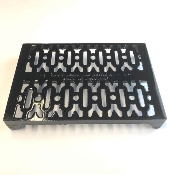 Y6 Cast iron air brick 9x6 inch - Victirian Y Pattern painted black