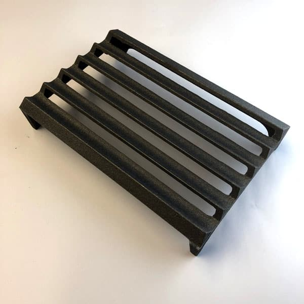 L6 Louvre Cast iron air brick 9x6 inch - bare metal