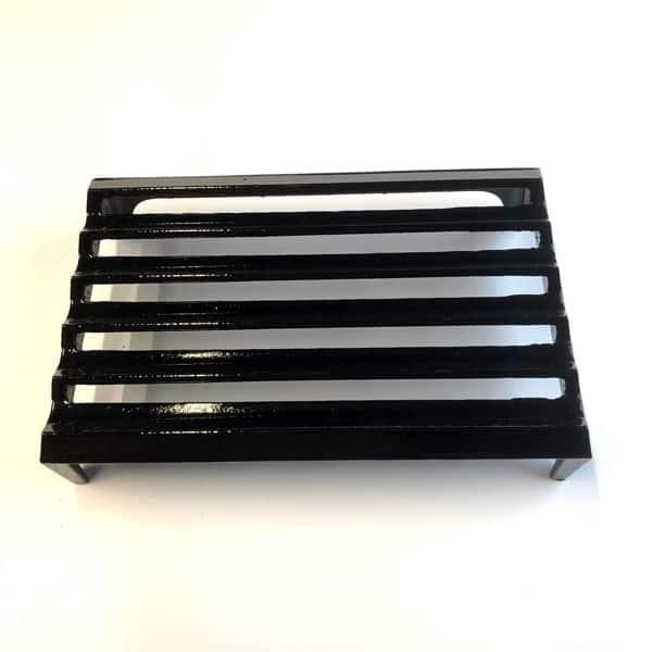 L6 Louvre Cast iron air brick 9x6 inch - painted black