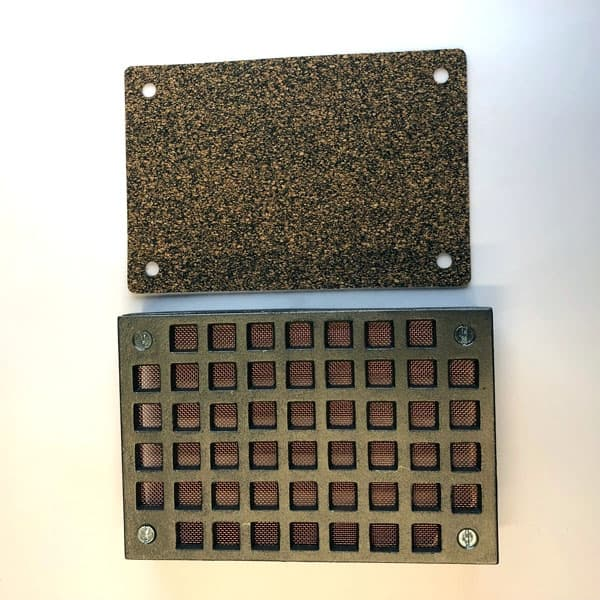 FLY6 Cast iron Flyscreen Air Brick 9x6 inch - bare metal front with frame 4 screws and removable copper flyscreen COMPLETE WITH EMREGENCY FLOODSCREEN