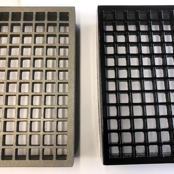 MAX9 - MAX FLOW 9x9 cast iron air brick with 28000mm2 free area bare metal and painted black