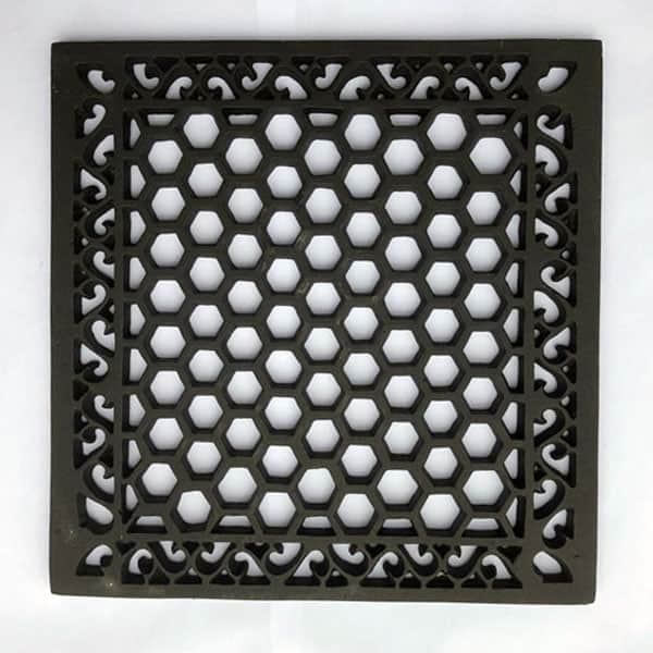 HER15 Heritage Cast Iron Grille 15x15 inch available with optional drilling in the corners and or copper flymesh
