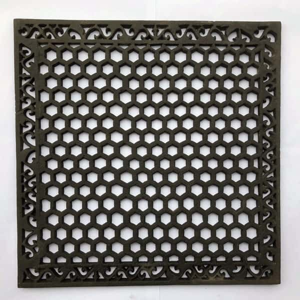HER20 Heritage Cast Iron Grille 20x20 inch available with optional drilling in the corners and or copper flymesh