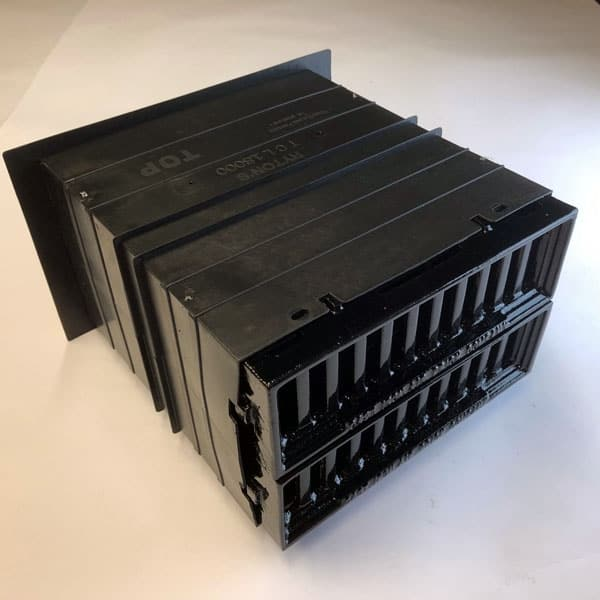 CAV6 double painted black Cast iron metric Windsor air bricks complete with double size plastic duct telescopic wall sleeve