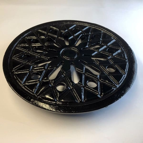 Ventilated Coal Cover - Cast iron coal vent 12inch diameter without frame