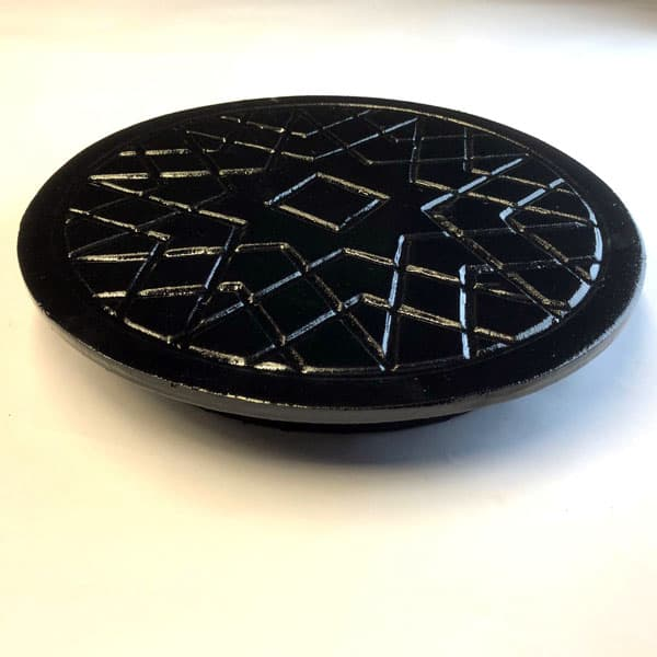 Solid Coal Hole Cover in Cast iron - 12 inch diameter coal cover supplied without frame