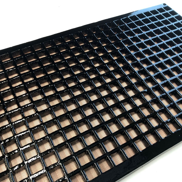 large Made to measure cast iron gratings custom made available painted black with mesh