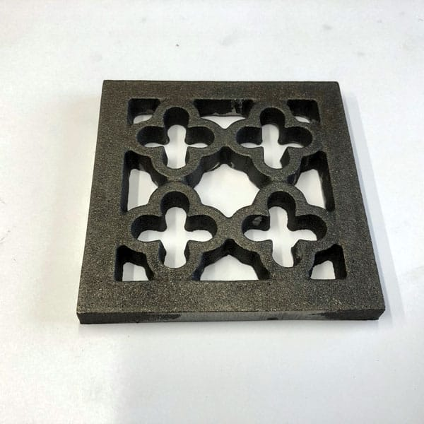 Quatrefoil Square - Bare metal supplied without junction box channel