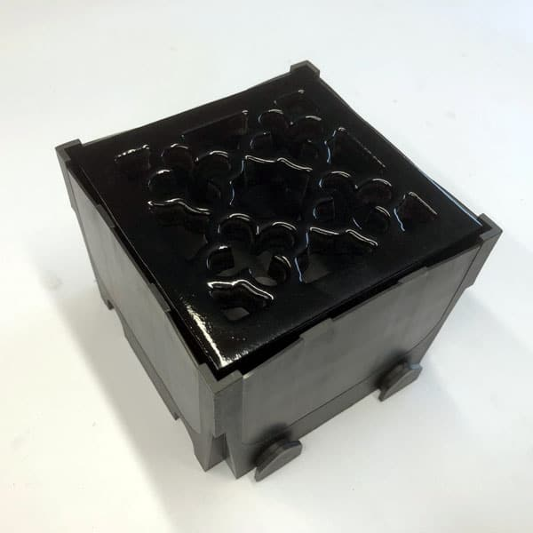 Quatrefoil Square - painted black supplied with junction box channel