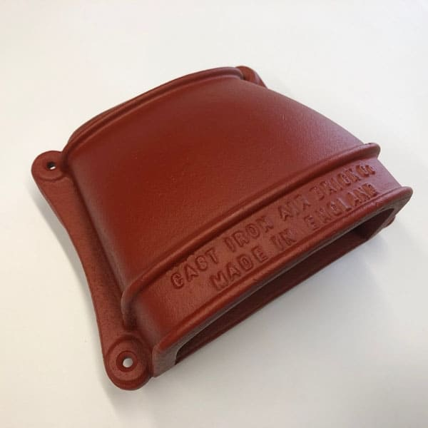 Cast iron CON4 and CON5 cowled conservation air vent primed red oxide