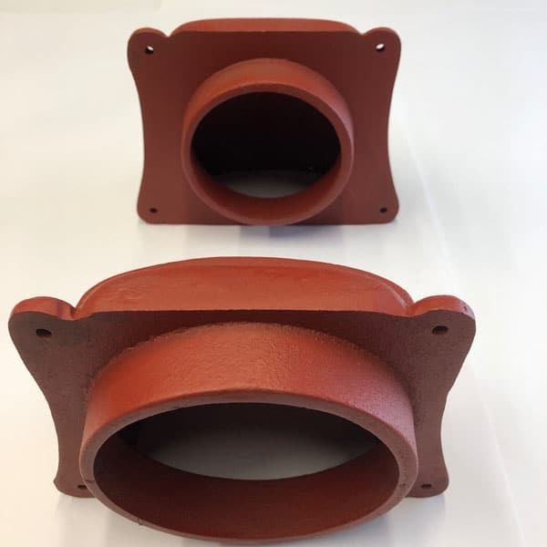 Cast iron cowled conservation air vents showing CON4 with 4 inch spigot and CON5 with 5 inch spigot
