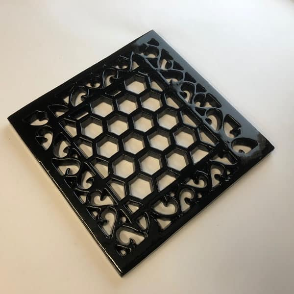 Cast Iron 9X9 inch Heritage Vent and Drain Grilles - HER9 - unDrilled withOUT Mesh