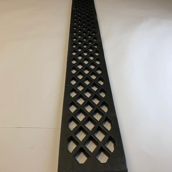 LAT364 Cast Iron Doorstep Lattice Gratings 4 inch wide and 36 inch lengths