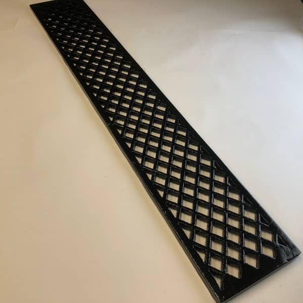 LAT366 a 36x6 inch cast iron lattice pattern gratings suitable for floor and wall ventilation and drainage