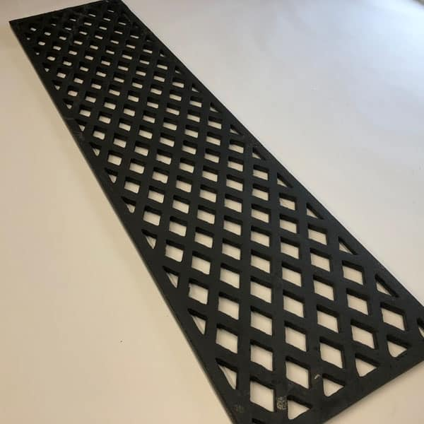 LAT369 a 36x9 inch our largest cast iron lattice pattern gratings suitable for floor and wall ventilation and drainage